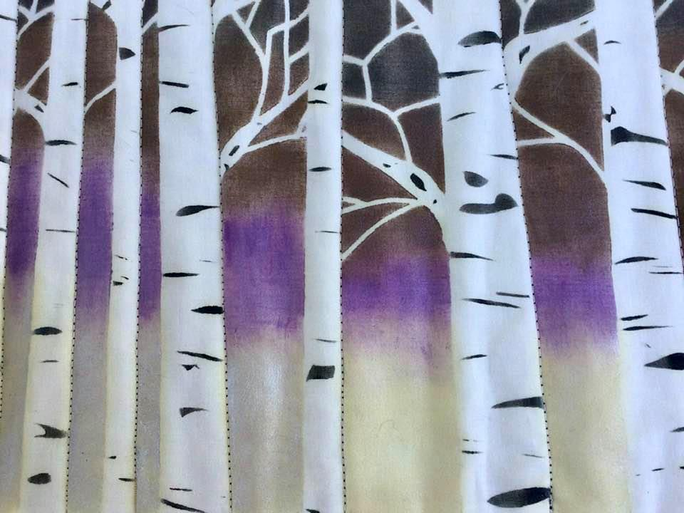 Details of Birch Tree Table Runner.