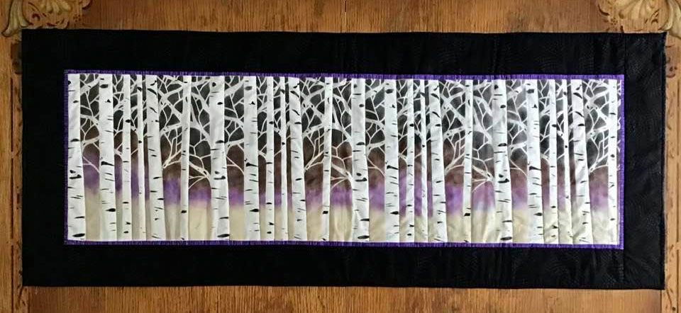 Completed Birch Tree Table Runner